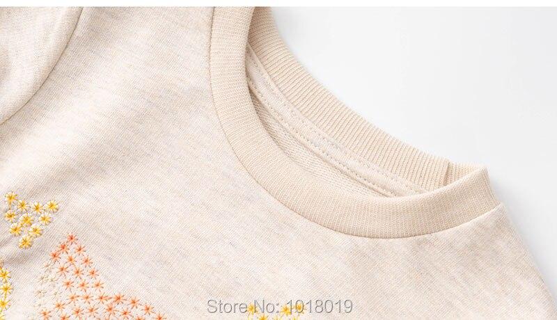 Sequin Fox Girls Tops Fleeces Sweatshirt 100% Terry Cotton Sweaters Children t shirt Kids Hoodies Blouses Baby Girl Clothes 1-7Y 6