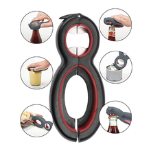6-in-1 can opener Multi-function  wine Durable and labor-saving Kitchen gadgets accessories