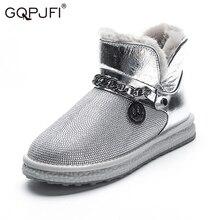 Shoes Snow-Boots Rhinestone Velvet Thick-Bottom Waterproof Winter Women's New-Fashion