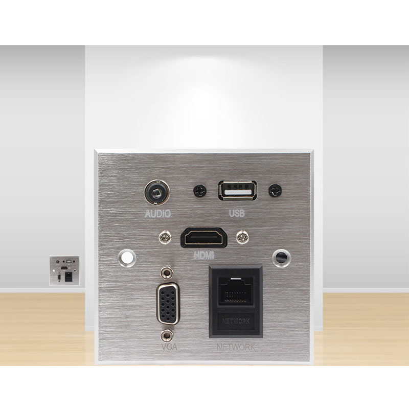 Wall Socket \ HD HDMI \ VGA USB NETWORK RJ45 Audio Video Information Outlet Panel /Multimedia Home Hotel Rooms KTV Wall Socket