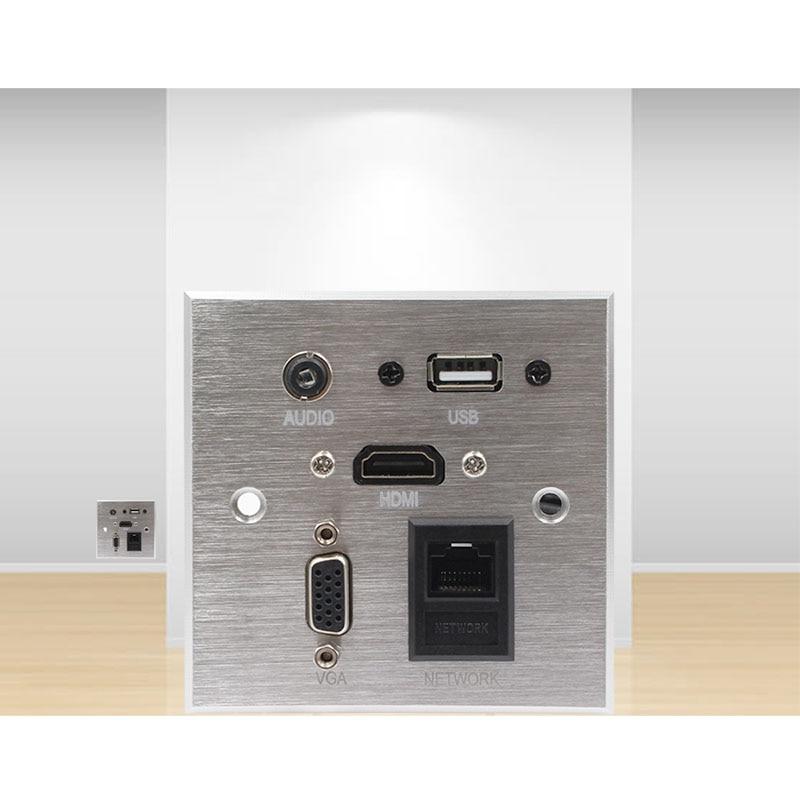 Wall Socket \ HD HDMI \ VGA USB NETWORK RJ45 Audio Video Information Outlet Panel /Multimedia Home Hotel Rooms KTV Wall Socket