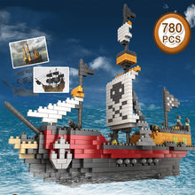 780pcs Cruise pirate Legoing Ship Microparticles Building Bricks Blocks Set 3D Boat Model Technic Toys For Child Gift(China)