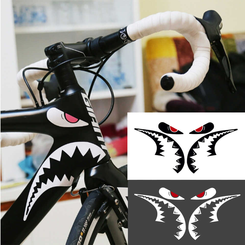 1 Pc Fiets Sticker Haai Frame Sticker Mountain Fiets Sticker Frame Decoratieve Stickers