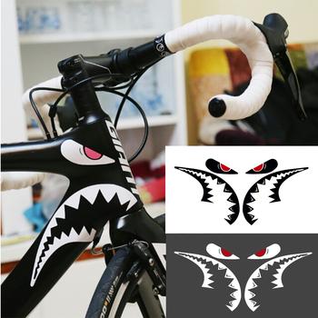 1 Pc naklejka rowerowa Shark naklejka ramka góra naklejka rowerowa rama dekoracyjne naklejki tanie i dobre opinie