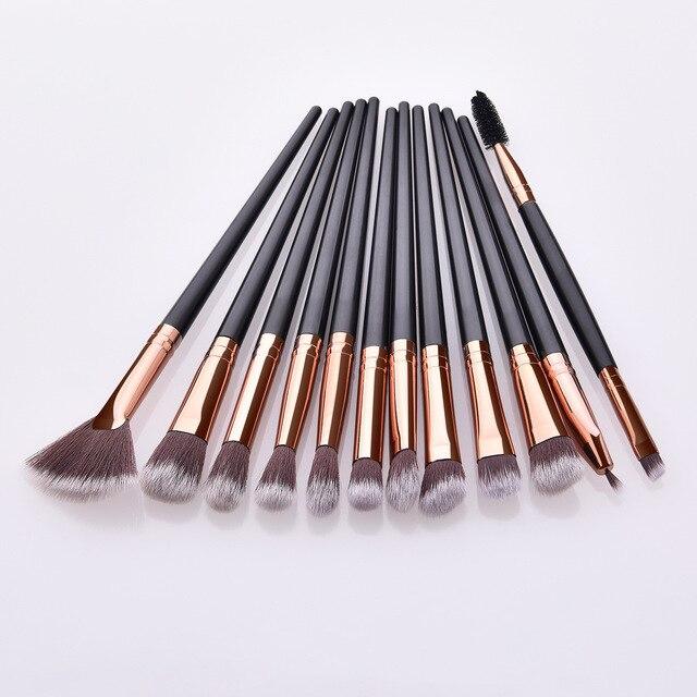 Makeup Brushes Set 3/5/12pcs/lot Eye Shadow Blending Eyeliner Eyelash Eyebrow Make up Brushes Professional Eyeshadow Brush 2