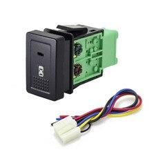 1PC Automatique Avant phares Antibrouillard Projecteur Hayon musique audio Bouton De Commutation Pour Nissan X TRAIL 14 20