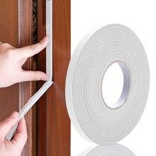 5m preto/branco auto adesivo fita de espuma porta tira de vedação isolamento de ruído anti-colisão janela gap draught exclusider ferragem