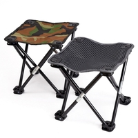 Camouflage Folding Stool Lightweight Gear Camping Hiking Beach Portable Recreational Fishing Chair