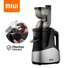 MIUI-Wyciskarka wolnoobrotowa 7-stopniowy spiralny ekstraktor do tłoczenia na zimno Opatentowana technologia bezfiltrowa Łatwa w czyszczeniu maszyna do soków owocowych i warzywnych dużego kalibru Silnik 2020PRO 4-kolor tanie tanio 150 w Lfgb ROHS 500 ml CN (pochodzenie) Owalne 1 001l-1 5l Z tworzywa sztucznego 9x6x18 43 Rpm STAINLESS STEEL ROUND