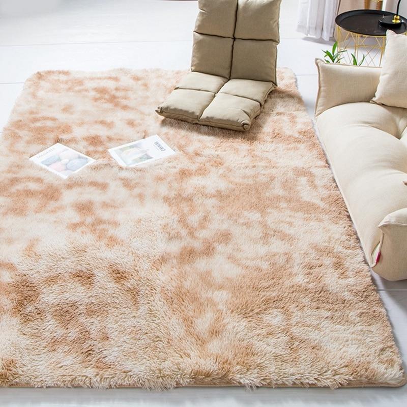 Современный ковер в скандинавском стиле с градиентом, ковер для спальни, гостиной, прямоугольный ковер, пестрый мягкий удобный ковер серого цвета - Цвет: Beige