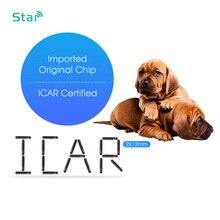 100 pcs/lots 1.4*8mm FDX B זכוכית תג ISO11784 100pcs Bioglass שבב 2*12mm Rfid Transponder1.25 * 7 בעלי החיים מזהה תג כלב 134.2khz