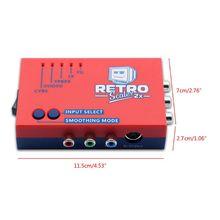 2021 Mới Một/Chuyển Đổi Và Dây Doubler RetroScaler2x 480p60 Tín Hiệu Cho Retro Trò Chơi Điện Tử