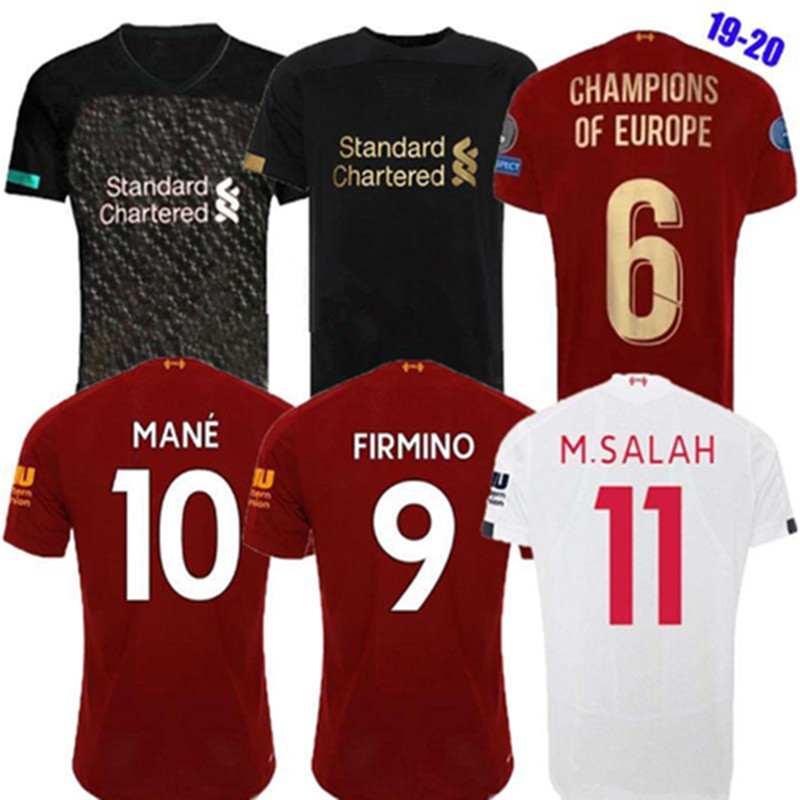 2019 2020 MANE Soccer Jerseys M.SALAH MANE FIRMINO VIRGIL HENDERSON ROBERTSON 19 20 Home Away Third Adult Football Shirt