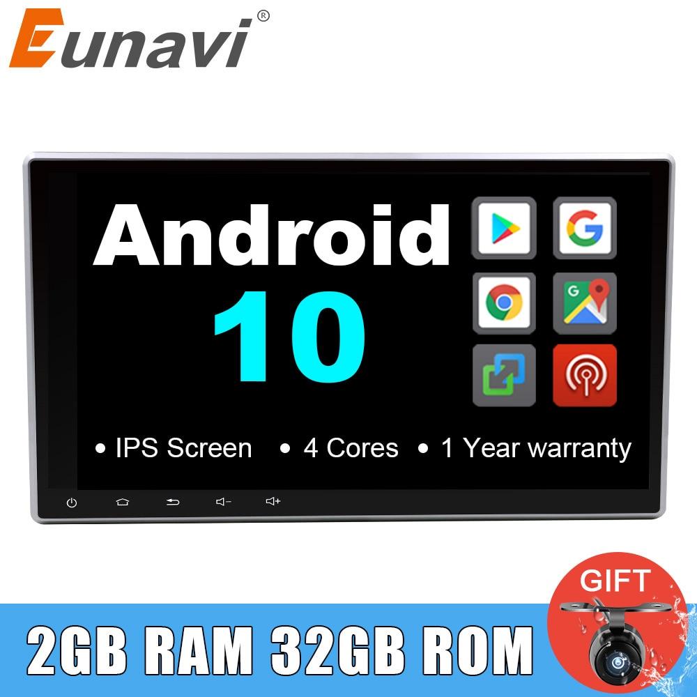 Eunavi 10,1 inch 2 Din Universal Android 10 Auto Radio PC GPS Navigation 2din Stereo Bluetooth USB Steuergerät 1024*600 IPS KEINE DVD