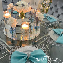 Center Pieces Round Mirror Plate for wedding good quality we
