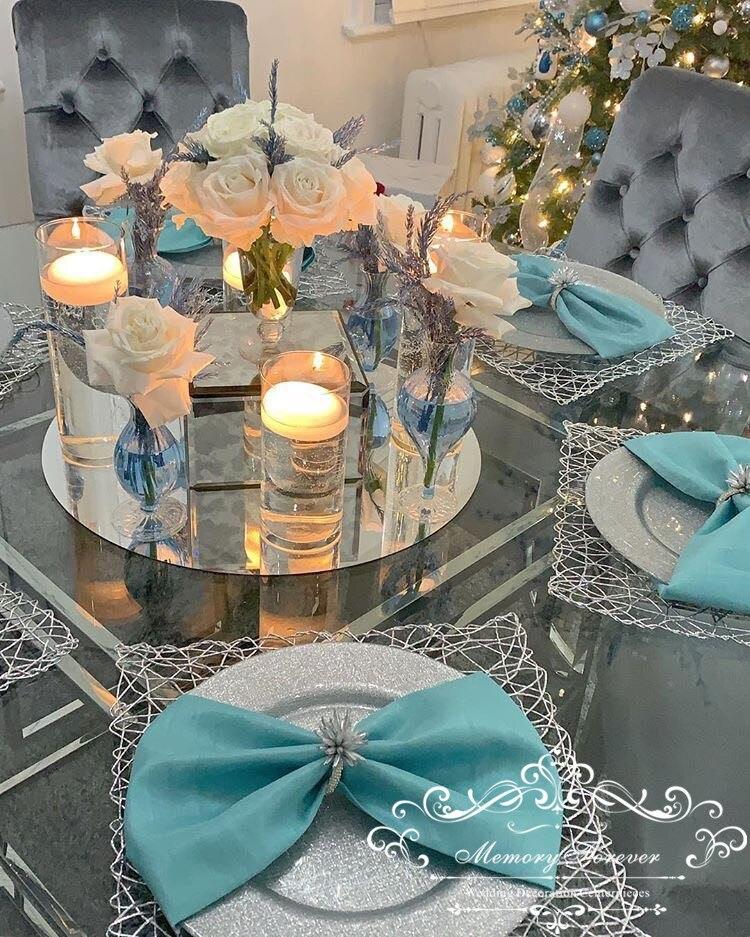 Centro de peças placa espelhada para casamento, boa qualidade casamento de acrílico espelhado de vela decorações de natal