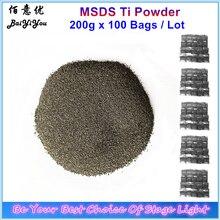 2 110 worków Ti Powder 200 g/worek materiały eksploatacyjne do zimnej iskry maszyna wesele fontanna fajerwerki tytanowy proszek MSDS