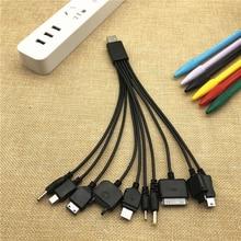 10 ב 1 רב תכליתי מטען USB כבלים עבור iPod מוטורולה נוקיה סמסונג LG סוני אריקסון צרכן אלקטרוניקה נתונים כבלים