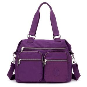 Image 1 - Lüks kadın Messenger naylon omuzdan askili çanta bayanlar Bolsa Feminina su geçirmez yüksek kapasiteli seyahat Kipled çanta kadın Crossbody çanta