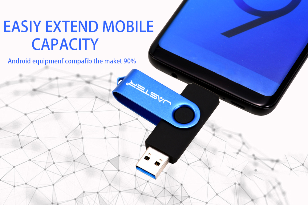 IsMyStore: JASTER High Speed USB3.0 Flash Drive OTG Pen Drive 128gb 64gb Usb Stick 32gb 256gb Pendrive Flash Disk for Android SmartPhone/PC