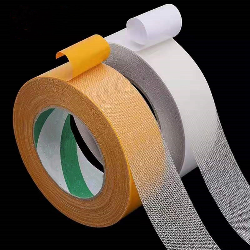 10meter Thick 0.35mm Mesh Grid Cloth Double-sided Tape Adhesive Carpet Floor Leather Fixing Sticky Carpet High-adhesive Tape