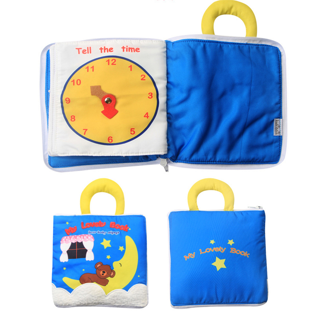 Baby Cloth Book Soft Washable 3D Parent-Children Interactive My First Book Practice Hand Early Learning Educational Quite Books 5