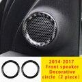 Декоративный Круглый передний динамик для Jeep Grand Cherokee из углеродного волокна 2 шт 14-17