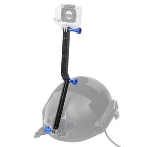 Image 2 - CNC Helmet Selfie Stick Extension Rod Arm with Screws for Gopro Hero 9 8 7 6 5 Session 4 3 Yi SJcam EKEN Sports Action Cameras