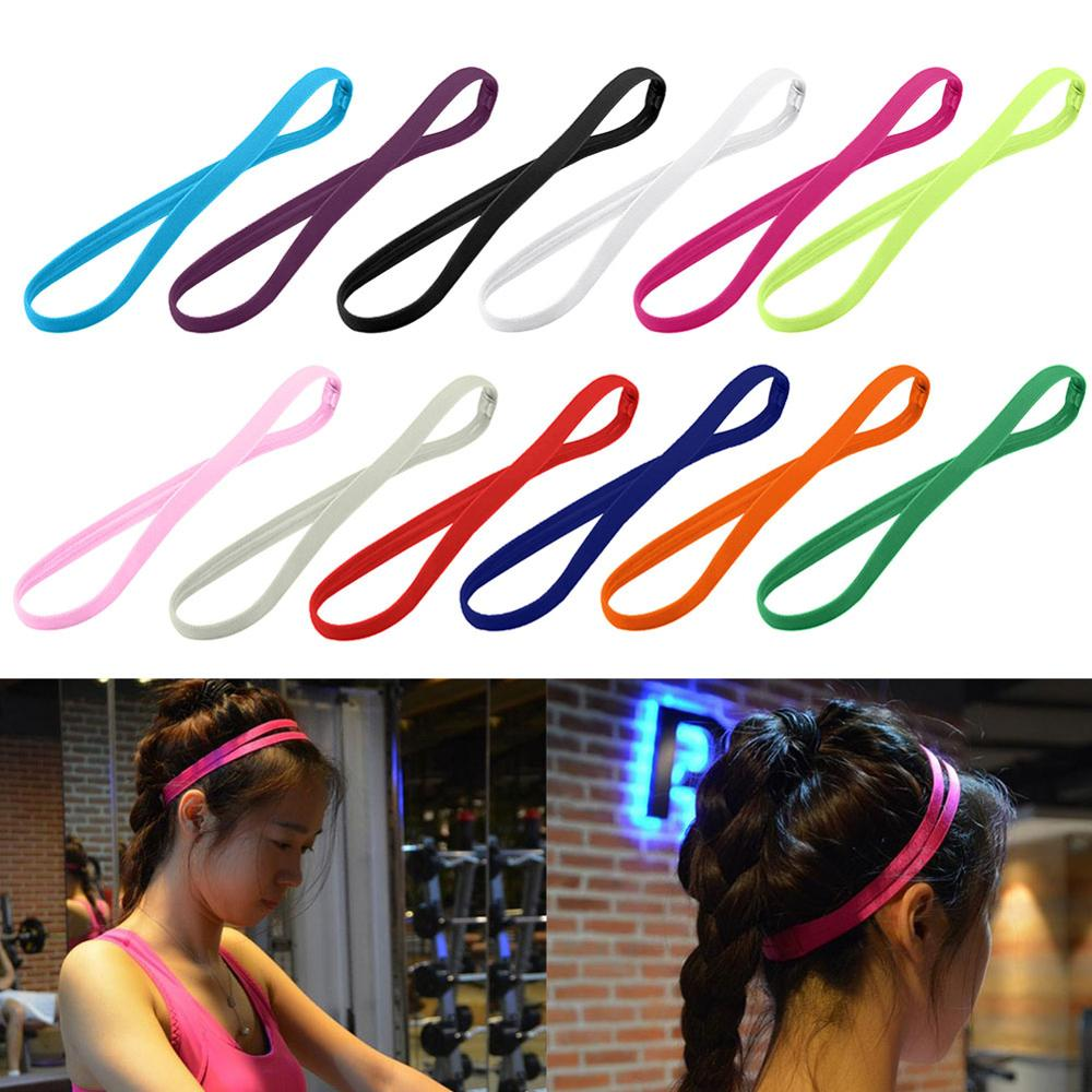 1 PC Candy Color Women Men Yoga Hair Bands Sports Headband Girls Sport Anti-slip Elastic Rubber Sweatband Football Running