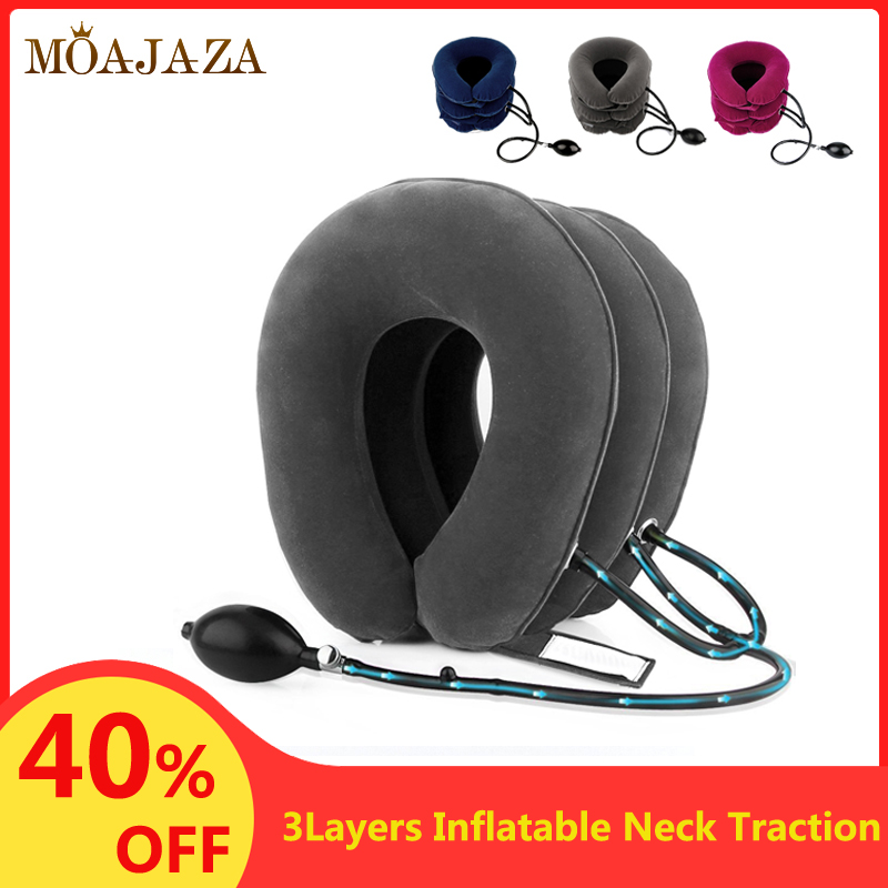 Inflatable Air Cervical Neck Traction Device Soft Orthopedic Pillow Pain Stress Relief Neck Stretching Neck Collar Support Brace