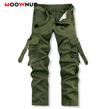 Pants Streetwear Autumn Mens Cargo Casual Hombre Cotton Military Style Outdoors Plus Size safari style Trousers Male MOOWNUC