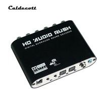Caldecott 5.1 dts AC-3 6ch conversor de áudio digital lpcm para 5.1 saída analógica 2.1 digital decodificador de áudio para dvd pc