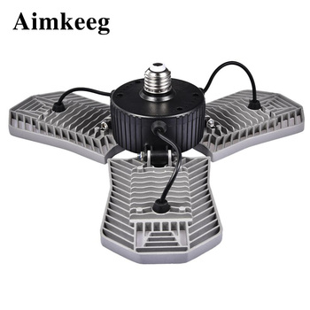 LED industrial lighting E27 ceiling lamp waterproof deformable 85-265V 80W suitable for factory warehouse garage lights