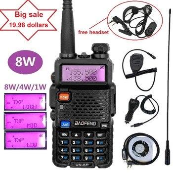 Baofeng UV-5R 8 W Ham Radio amatorskie Walkie Talkie 10km VHF UHF dwuzakresowy CB Radio Transceiver UV5R 8 watów polowanie Tansmitter