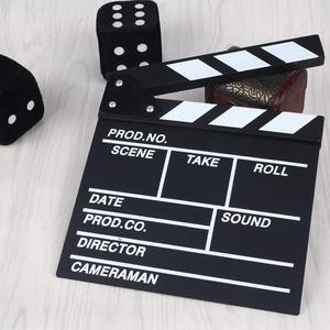 Image 3 - Film TV Show Cut Action Wooden Movie Clapboard Theater Party Oscar Decoration Movie Clapper Board Photo Studio Film Making Prop