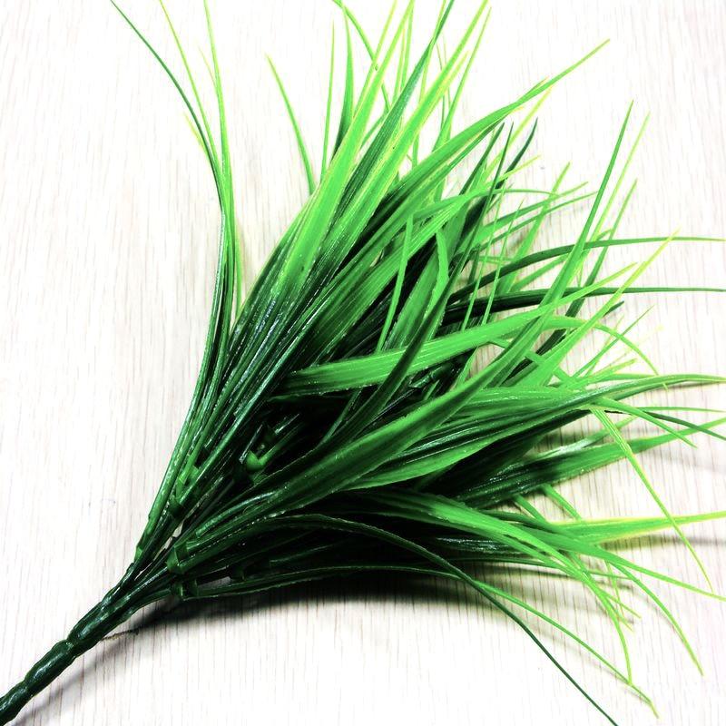 Artificial Fake Plastic Green Grass Plant Flowers Office Home Garden Decor TPO
