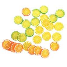10 pçs frutas artificiais limão plástico fatias realistas lifelike decorativo falso frutas novo post presentes para festa de cozinha