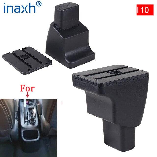Accoudoir intérieur pour Hyundai I10, pièces spéciales de rénovation de voiture, boîte de rangement centrale avec lumière LED USB