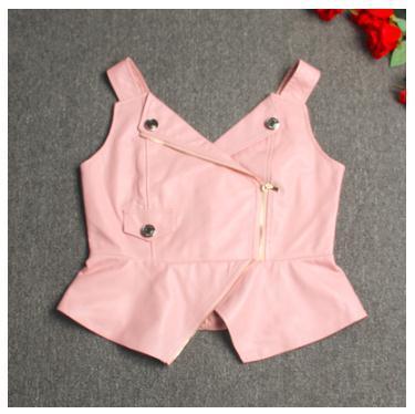 Free Shipping,Brand New Style Women Leather Vest.sales.fashion Slim Sheepskin Leather Jacket.short Street Jacket.Straps Vest