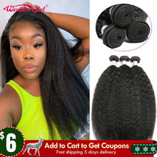 Kinky Straight Hair-Extension Wonder Bundles Weaves Human-Hair Deals Girl 1/3/4-hair-bundles
