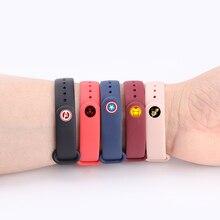 Ремешок для xiaomi mi band 3/4 силиконовый ремешок mi band 4 NFC Аксессуары спортивный ремешок для mi band 3 браслет сменный ремешок