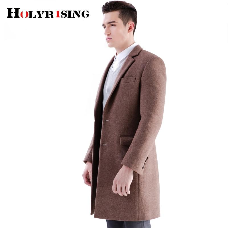 Holyrising Men 50% wool coat Fashion winter coat men coffen color Wool Blend men manteau homme Overcoat Winter 19035-5