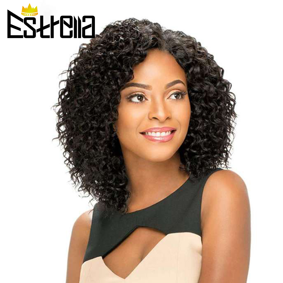 Jerry Curl Wig Peruvian Human Hair Wigs For Black Women Short Curl Wig Non-remy 1B 99J Color 100% Human Hair Fast Shipping