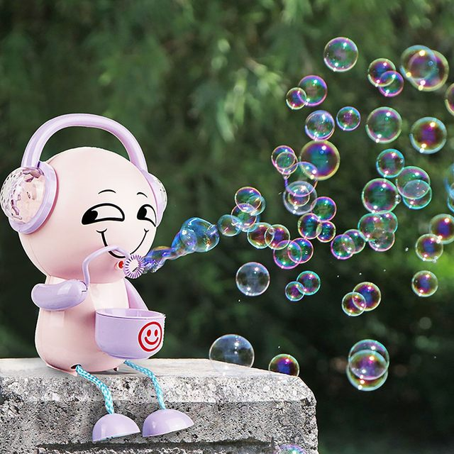 Automatic Bubble Machine Music Light Electric Bubble Maker Baby Kids Outdoor Swimming Bathtub Soap Bubble Blower Water Toy Cute 1