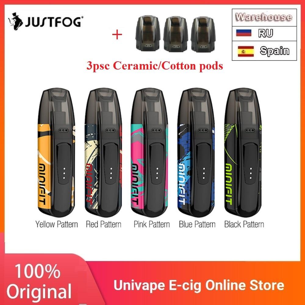New Colors Kit JUSTFOG MINIFIT Pod Vape Kit W/ 370mAh Battery & 1.5ml Cartridge Pod System Pod Vape Kit Vs Drag Nano/ Vinci X