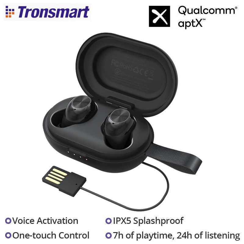 Auriculares inalámbricos Tronsmart Spunky Beat Bluetooth 5,0 TWS Qualcomm QCC3020 CVC 8,0 con activación por voz IPX5 a prueba de salpicaduras