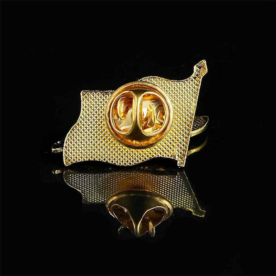 جمهورية إيران الإسلامية الشيعة الإمبراطورية الفارسية الله أكبر إيران مطلية بالذهب العلم دبابيس التلبيب