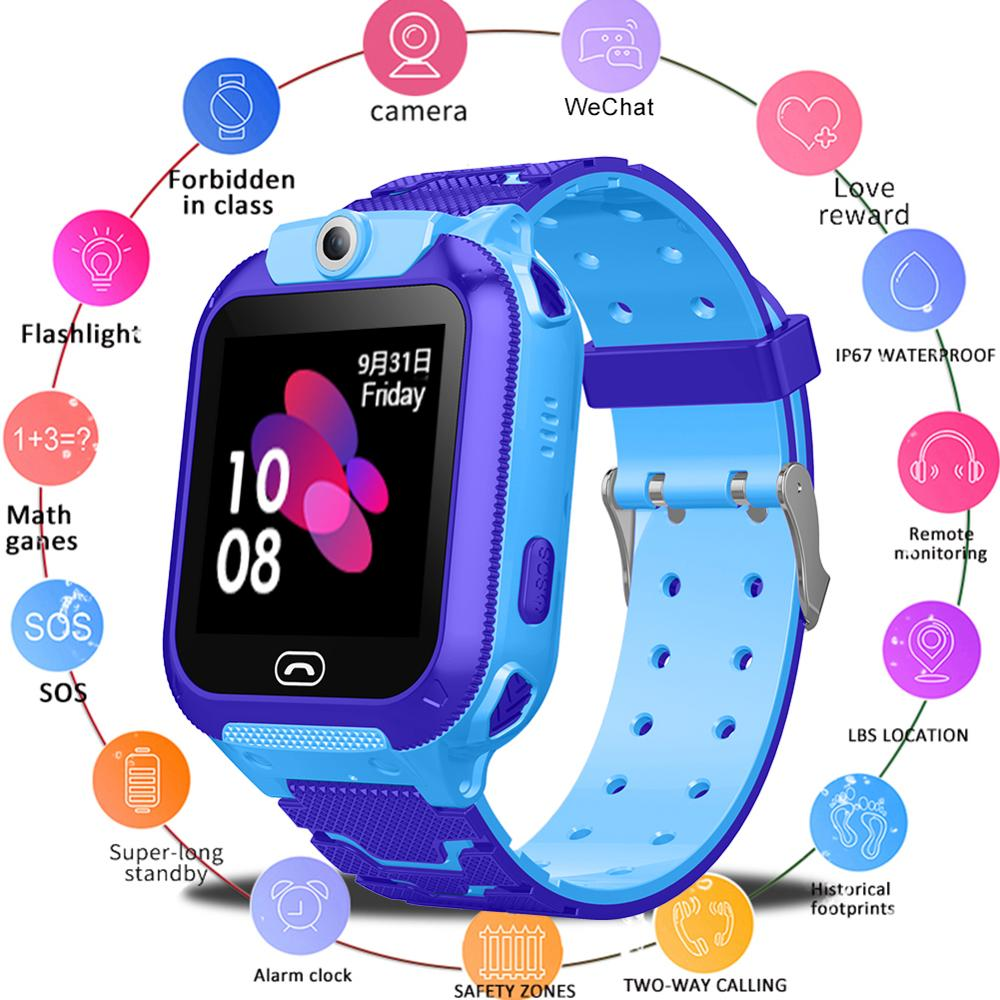 Smart-Watch Sos-Alarm Waterproof Children's Picture-Call Remote-Positioning-Take