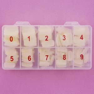 Image 3 - 1 boîte/500 pièces conseils couleur naturelle demi couverture faux français Nail Art artificiel acrylique Gel UV manucure ensemble bricolage Nail Art conseils
