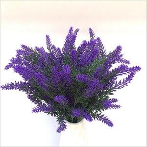 Image 2 - 1 bunch Artificial lavender rayon flower desktop fake flower arrangement decoration wedding party decoration Photo props